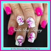 flower gel nail design nails