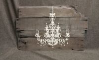 Pallet Wall Art Chandelier, Christmas gift, Reclaimed wood ...