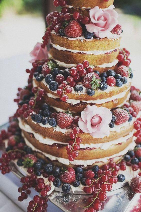 Bryllupskaker; 'Naked Cake' – Inside Out – Nakne Bryllupskaker   Norwegian Wedding Blog: