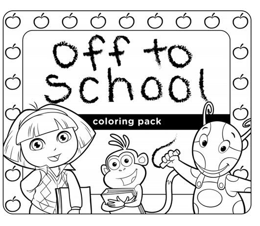 Check out this Off to School coloring pack featuring some