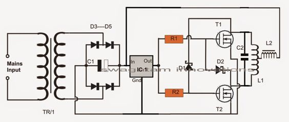 The proposed induction heater circuit exhibits the use of