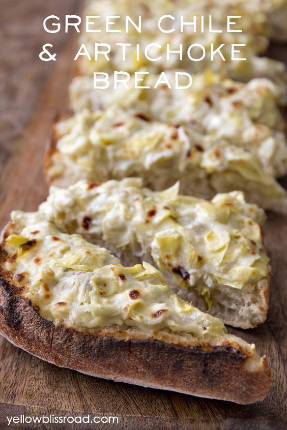 green chile artichoke bread recipe artichokes and