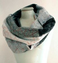 black and white nuno felt cool infinity scarf by ...