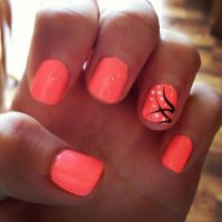 With the accent nail on each finger. Nail Ideas | Diy ...