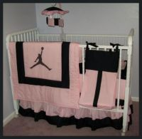 Jordan Baby Sets | MICHAEL JORDAN Pink/Black Crib Bedding ...