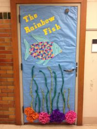 """The Rainbow Fish"" literacy week Door Decoration"