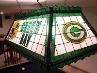 Green Bay Packer Stained Glass Pool Table/Rec Room Light ...