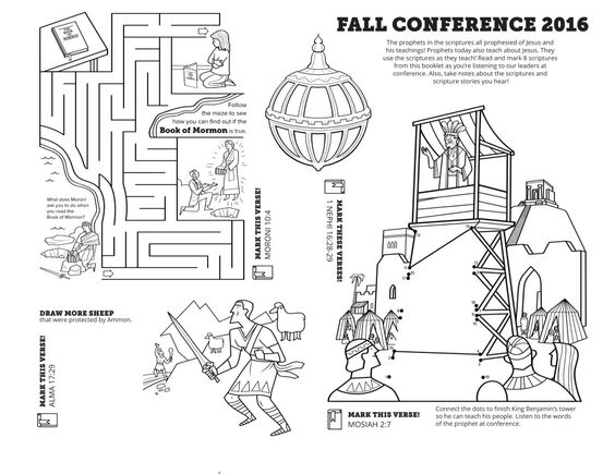 Coloring sheets, General conference and Coloring on Pinterest