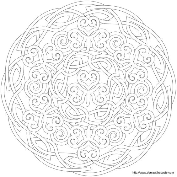 Shamrock Mandala, Mandala Picture to Color, Star Mandala