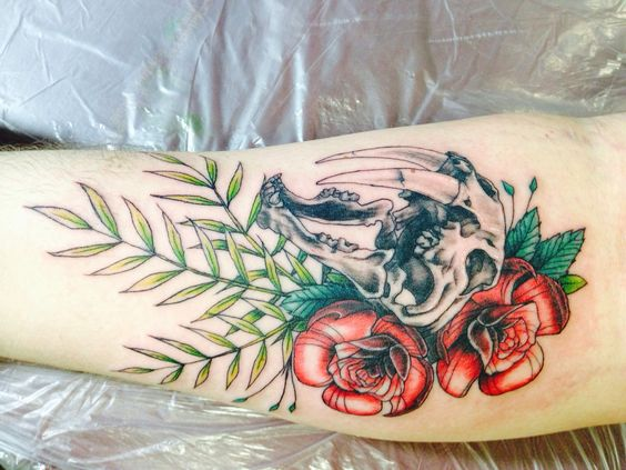20 Animal Skull And Roses Tattoos Ideas And Designs