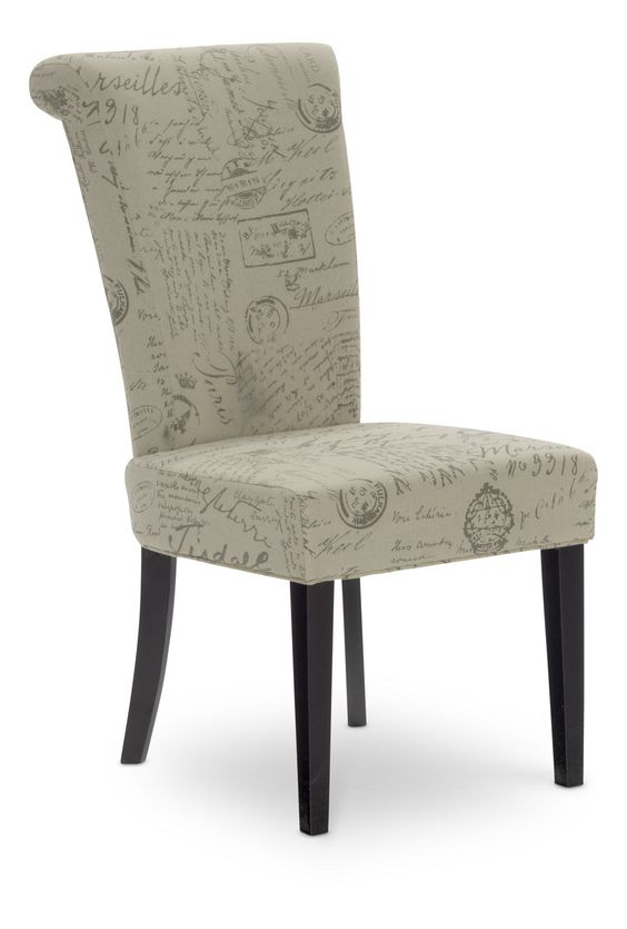 Napolean Script Linen dining chair  For the Home
