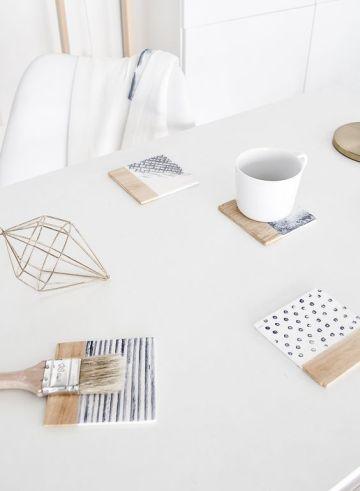 Minimalist coasters: