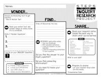 Inquiry Research: Moving Students Toward Independence ...