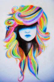 cool haar tekening tekenen