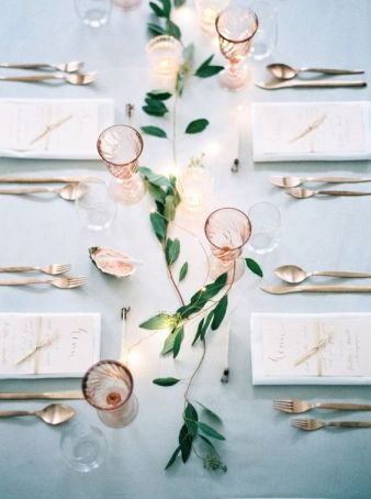 table settings in pink