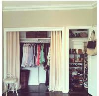 Curtains, Doors and Closet on Pinterest
