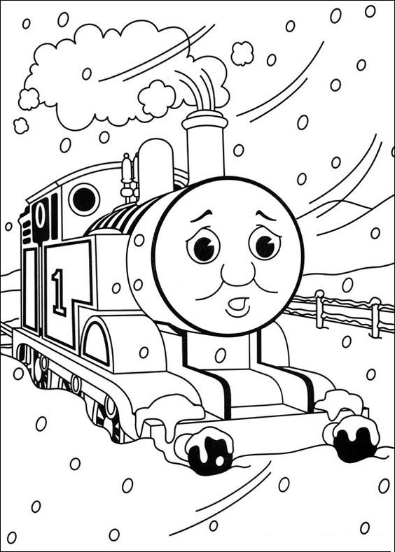 Top 20 Free Printable Thomas The Train Coloring Pages