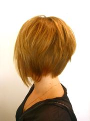 elevated bob hairstyle with chunky