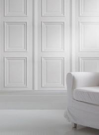 Panelling, Wallpapers and White wood on Pinterest