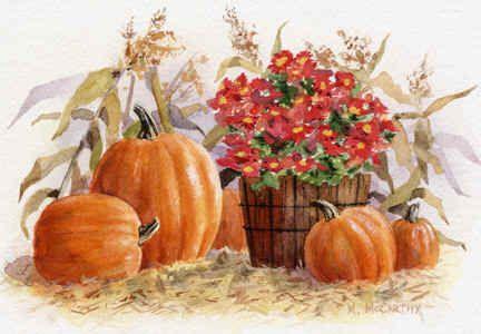 pumpkins and mums maureen mccarthy