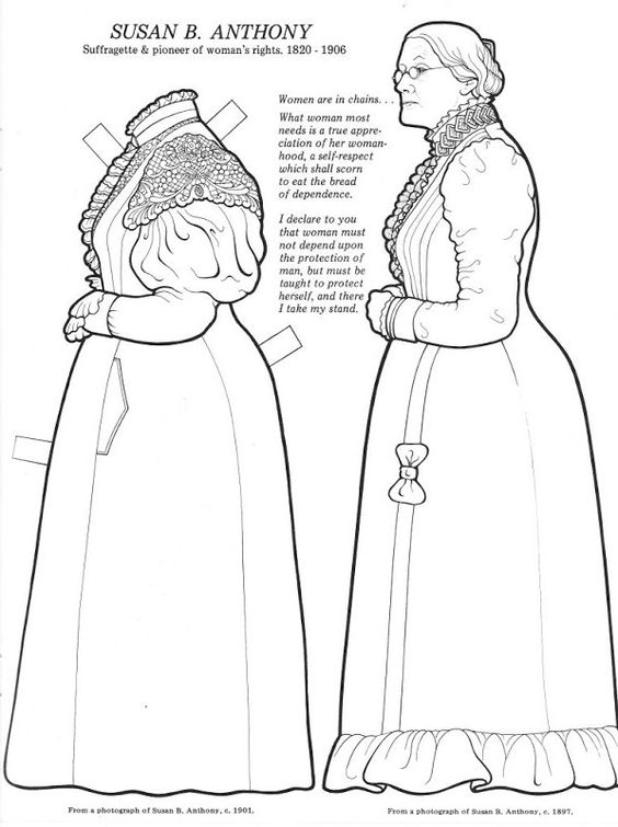 Great women, Coloring books and Paper dolls on Pinterest