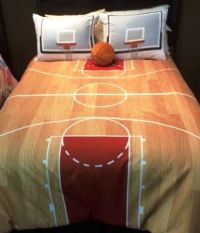 Hallmart Kids Courtside Basketball Comforter Set, Twin or