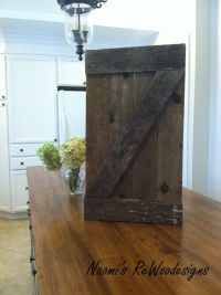 Small rustic barn door wall art made with reclaimed wood ...