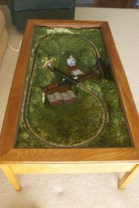 Model train, Coffee tables and Layout on Pinterest
