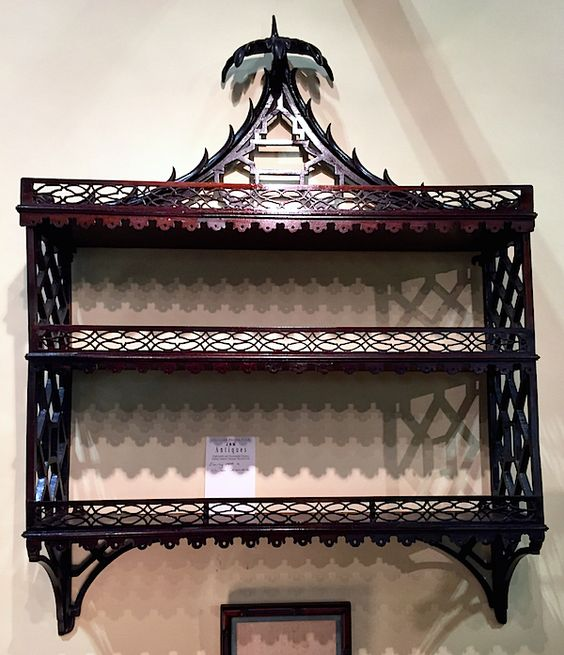 Chinese Chippendale Hanging Wall Shelf From Jm Antiques