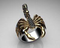 Scorpion, Sterling silver and Black diamonds on Pinterest