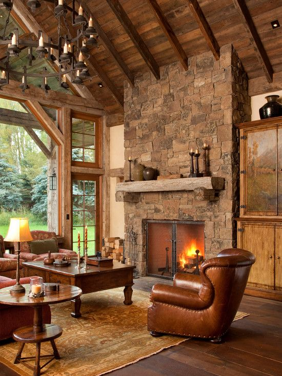#HomeOwnerBuff Country rustic traditional living room idea