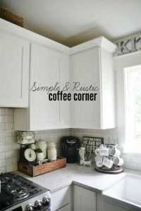 Kitchen Coffee Station - | Kitchen letters, Cabinets and ...