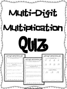 FREE Multi-Digit Multiplication Quiz or Review and Answer Key. Includes word problems and multi