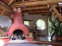 fireplace in a cute cob house | COB, EARTHBAG & STRAWBALE ...