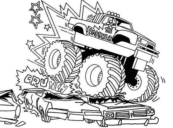 Monstertruck Malvorlage