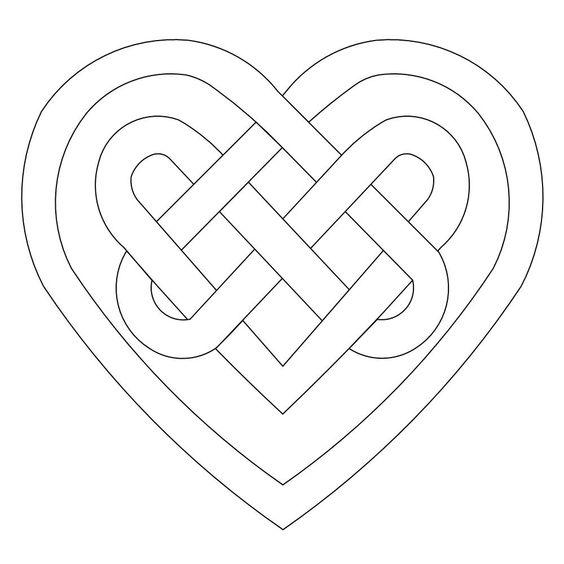 Celtic, Celtic heart and Celtic knots on Pinterest