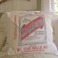 Vintage Flour Sack Pillow Cover Southern Best | Sacks ...