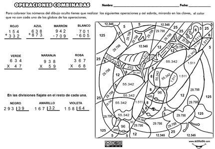 ejercicios de multiplicacion y division con dibujos