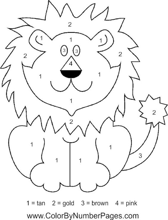 Color by numbers, Lion and The lion on Pinterest