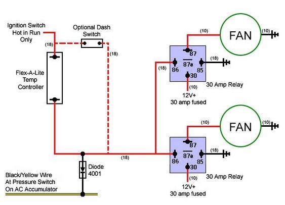 Cooling Fan Relay Wiring Diagram For Lsx Derale Fan Wiring Lstech