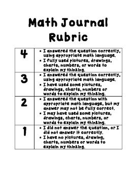 Math Notebook Cover, Section Dividers, and Rubric for Math