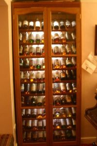 Awesome whisky display cabinet.