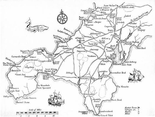 Cornwall, Map of cornwall and Cornwall map on Pinterest