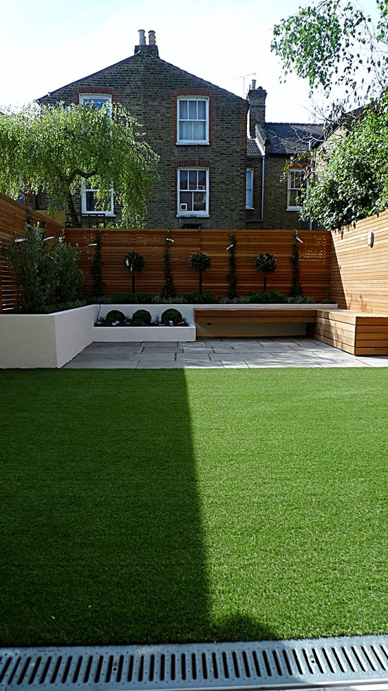 modern garden design courtyard