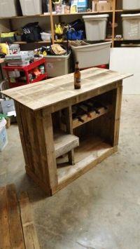 Pallet liquor cabinet   DIY   Pinterest   Wall mount, The ...