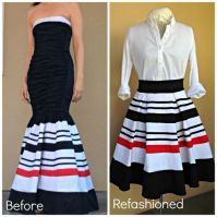 Recycle a thrift store prom dress into a pleated skirt ...