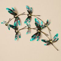 Dragonfly Metal Wall Art - m711046 wall dragonfly pearl ...
