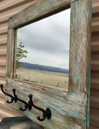 Barn wood Mirror, Barnwood Coat Rack, Nautical Wall Mirror