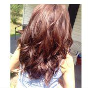 warm mahogany brown simply hair