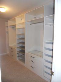 Wardrobe systems, Closet system and Closet layout on Pinterest